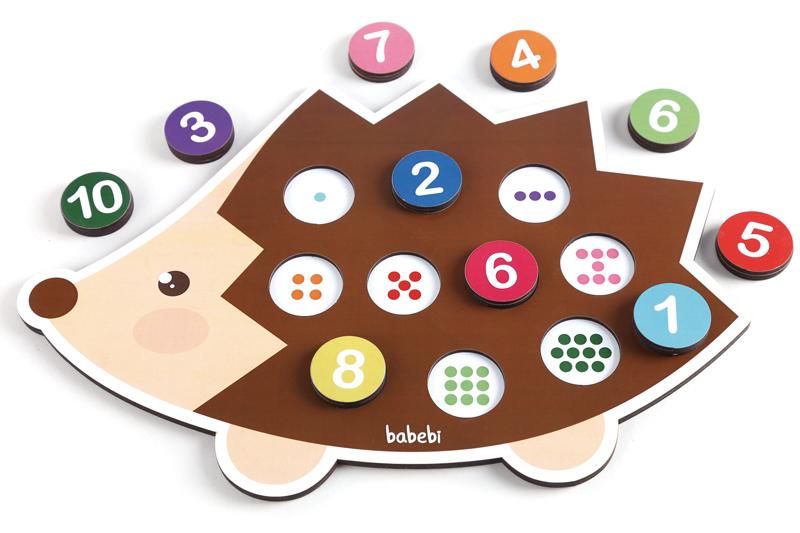 Brinquedo Educativo Contando até 10 com o Ouriço
