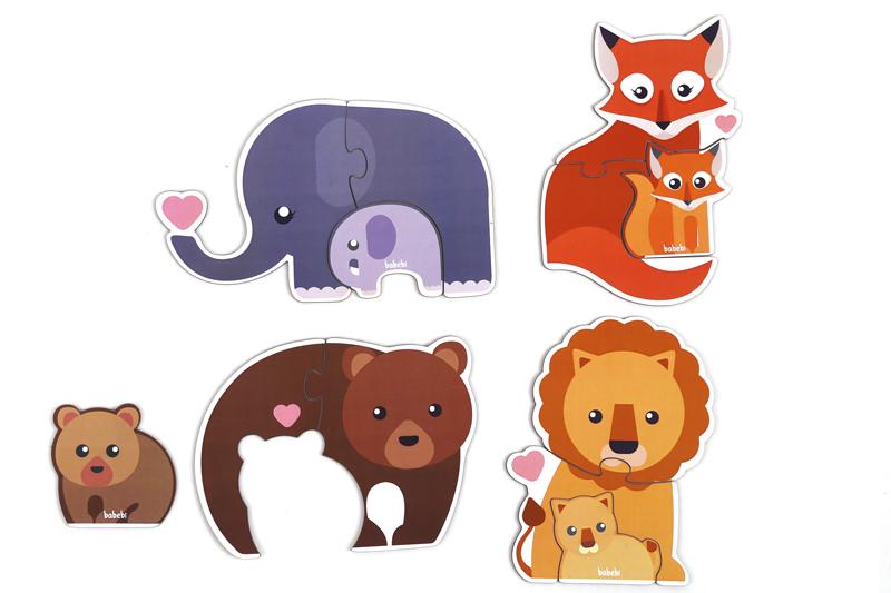 Brinquedo Educativo Quebra-cabeça Animais e Filhotes