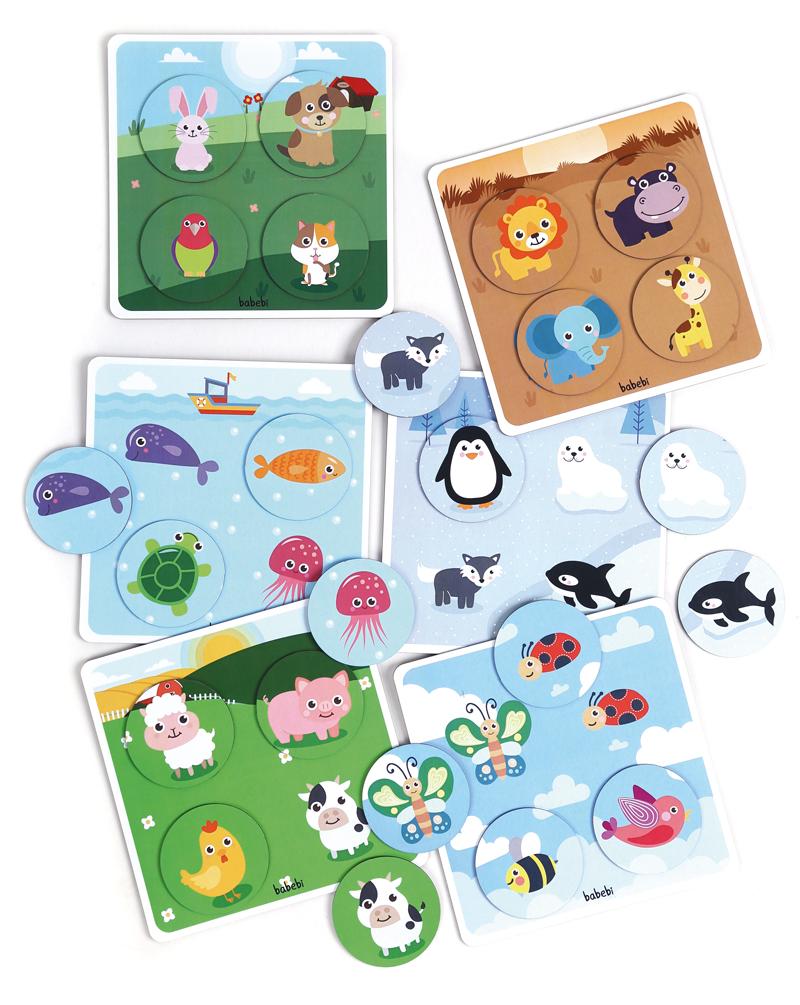 Peças do Brinquedo Educativo Super Bingo dos Animais