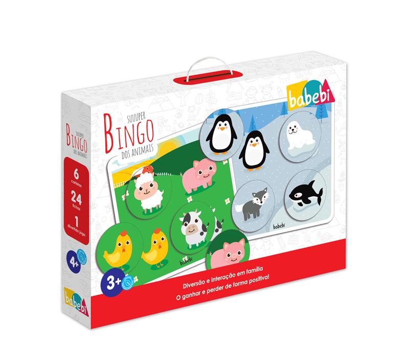 Caixa do Brinquedo Educativo Super Bingo dos Animais