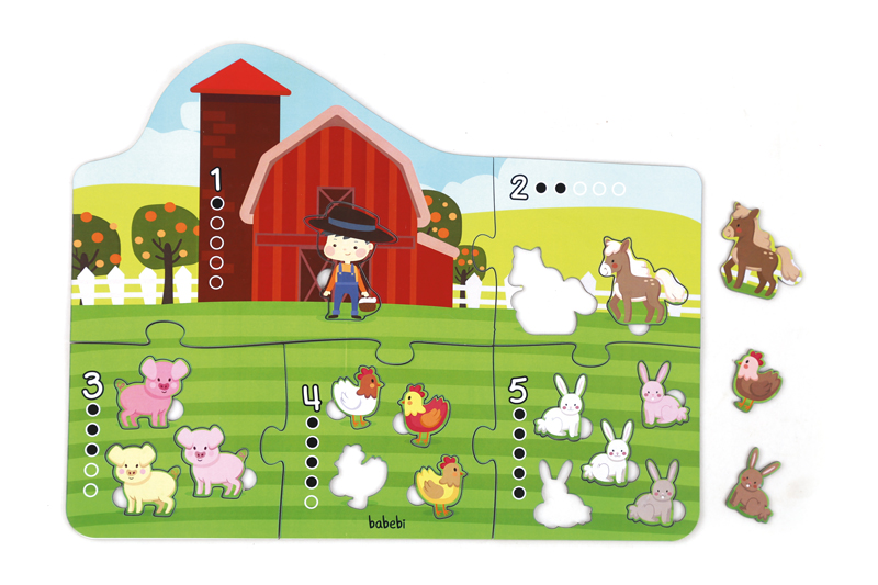 Brinquedo Educativo Quebra-cabeça Gigante Contando até 5