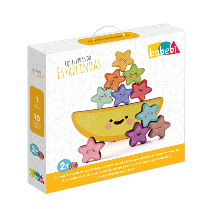Caixa do Brinquedo Educativo Equilibrando Estrelinhas.