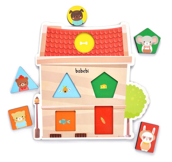 Peças do Brinquedo Educativo Quebra-cabeça de Encaixe Cores e Formas