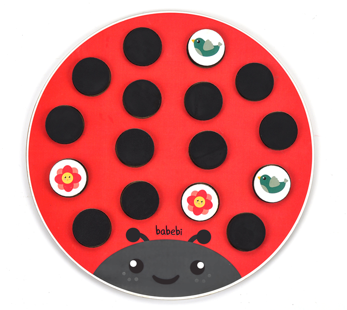 Brinquedo Educativo Tabuleiro da Memória Joaninha