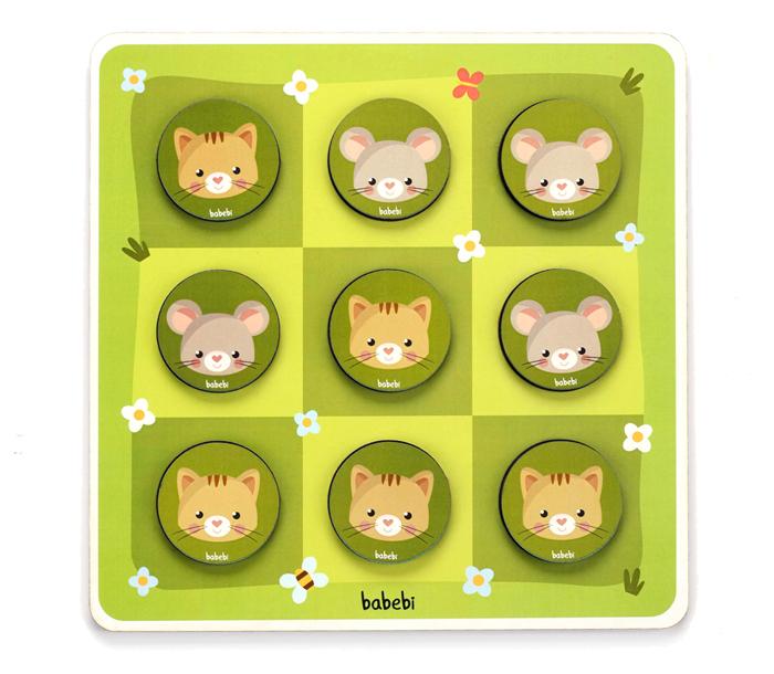 Brinquedo Educativo Jogo da velha Entre Gato e Rato