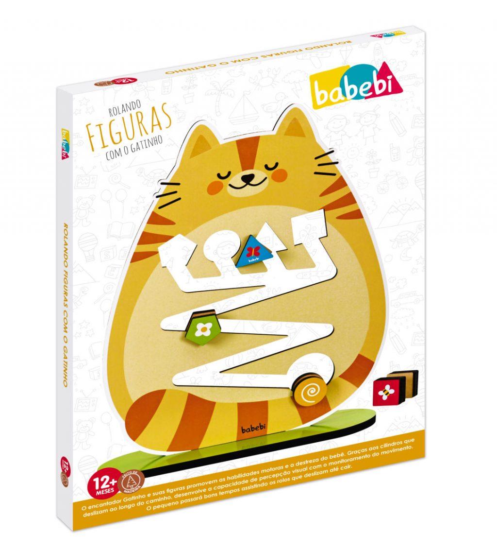 Embalagem do rolando figuras com o gatinho
