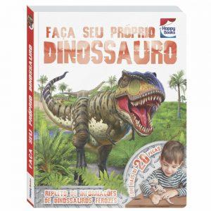 Livro Faça e Brinque - Faça Seu Próprio Dinossauro Viaje de volta no tempo para a época em que os dinossauros dominavam a terra e descubra como fazer um aterrorizante Tiranossauro Rex.