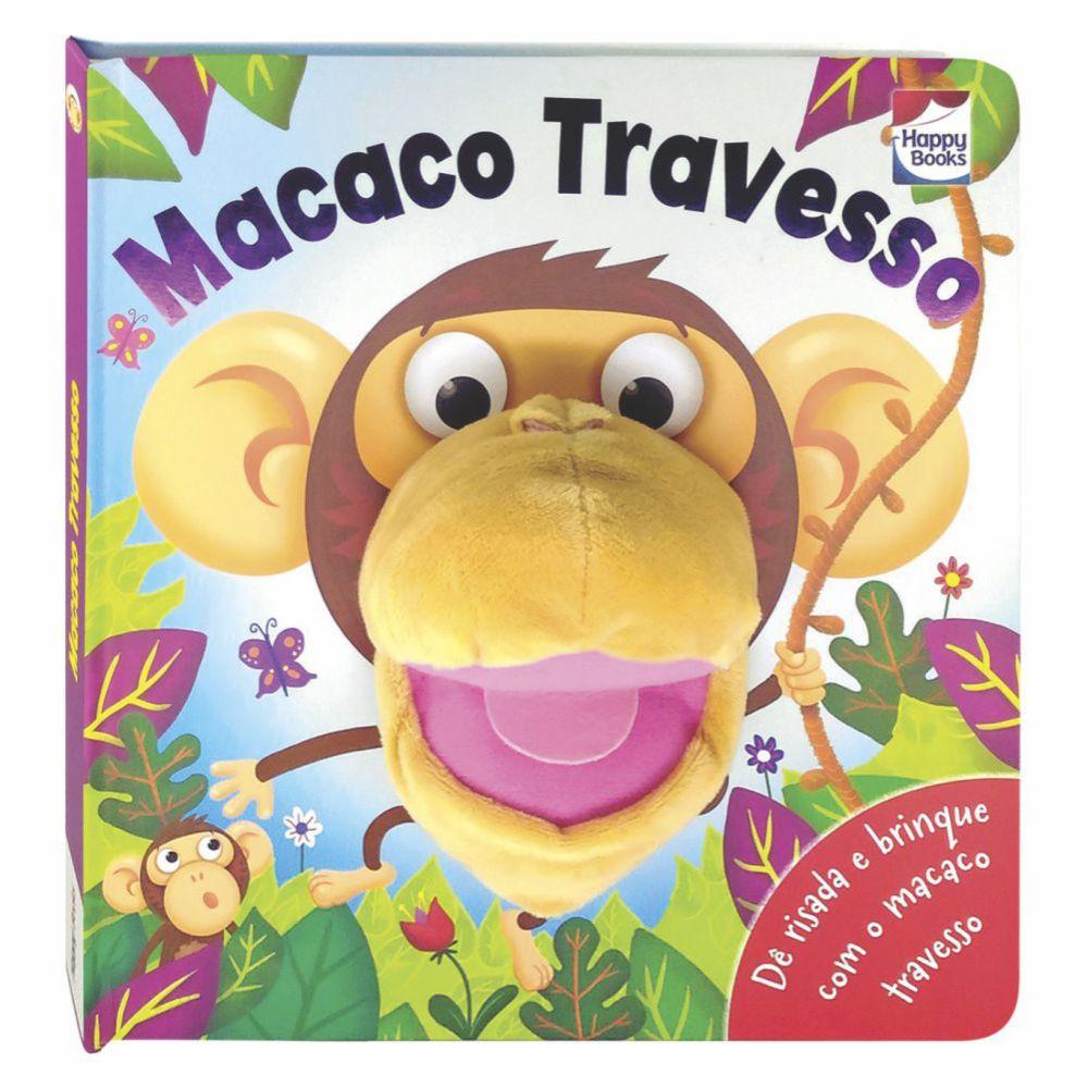 Livro Diversão Com Fantoches - Macaco Travesso