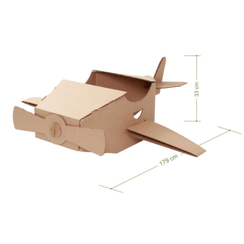 Medidas do avião de papelão