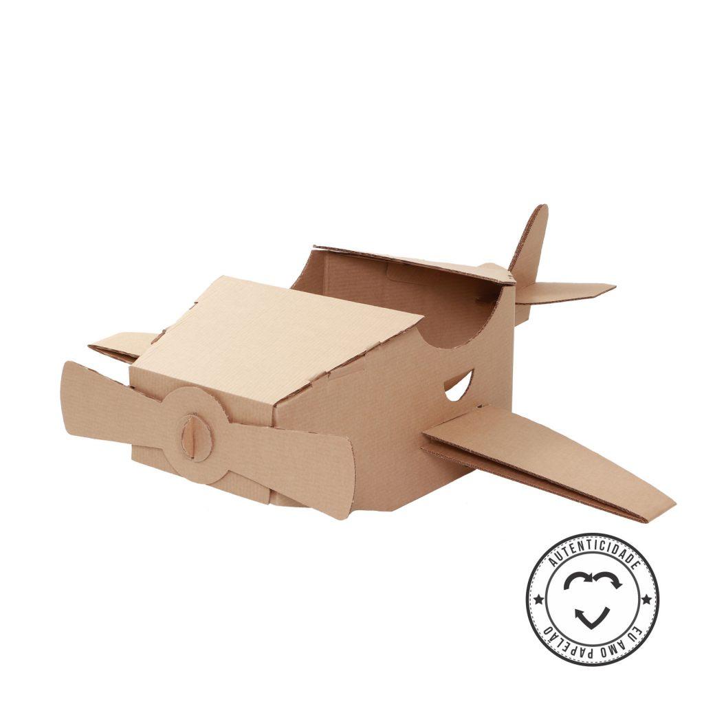 Selo do avião de papelão