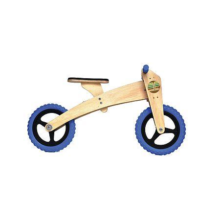 Bike de equilíbrio em madeira com duas rodas azul