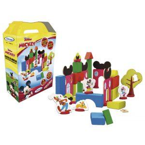 Embalagem e peças do blocos de montar mickey
