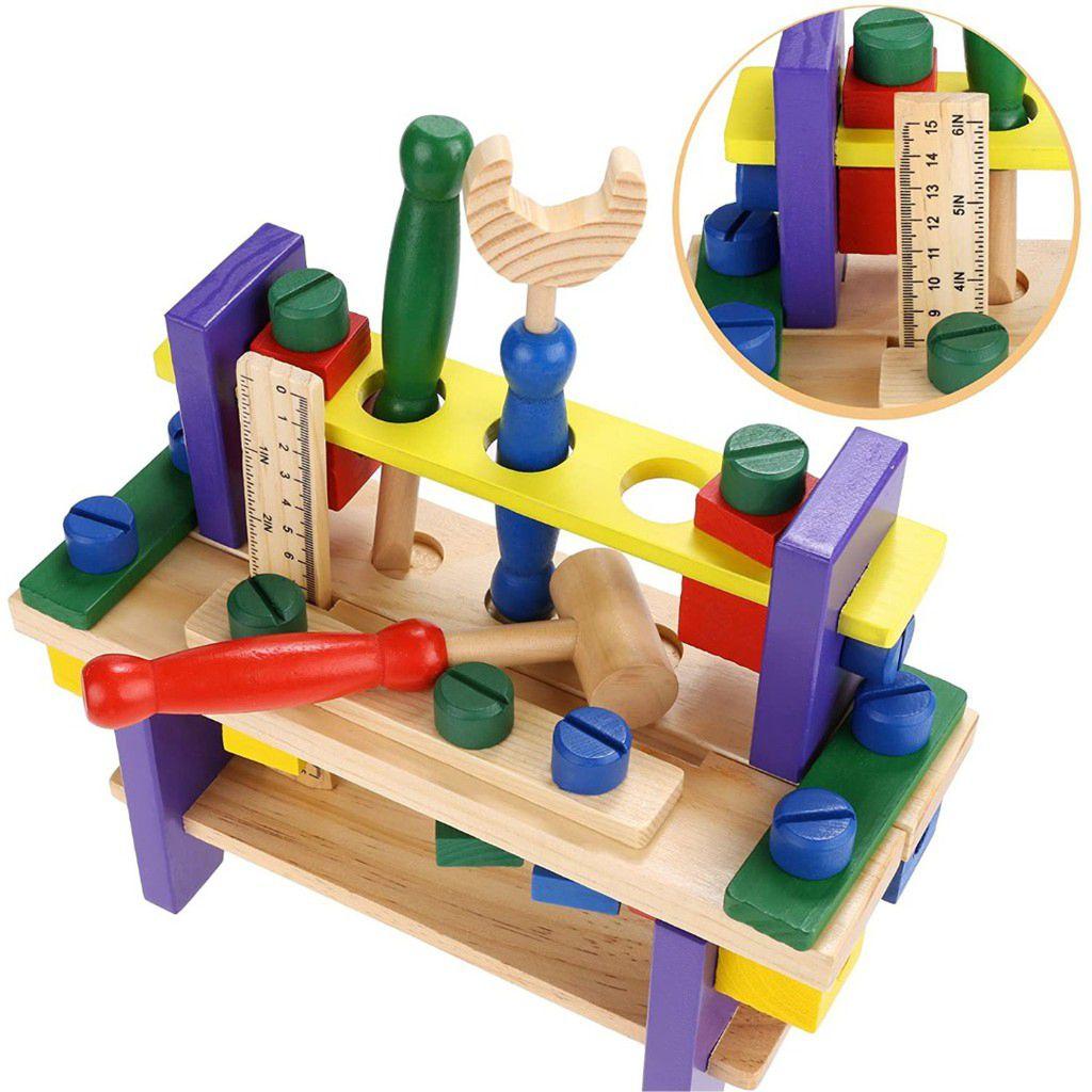 Bancadinha de ferramentas infantil 41 peças em foco