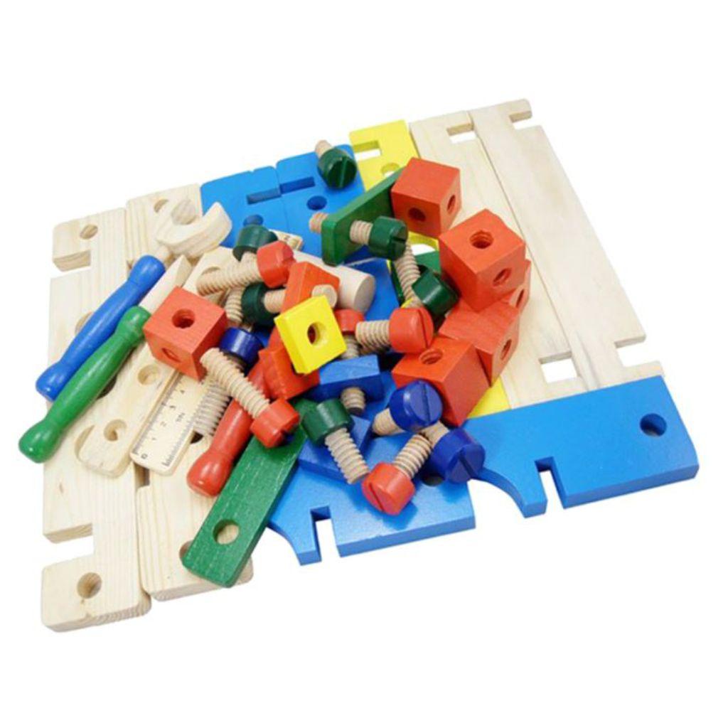 Peças da bancadinha de ferramentas infantil 41 peças