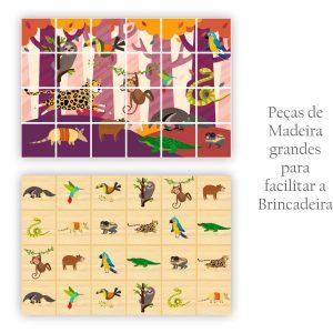 Peças da Big Memória e Quebra Cabeça 2 em 1 Amazônia