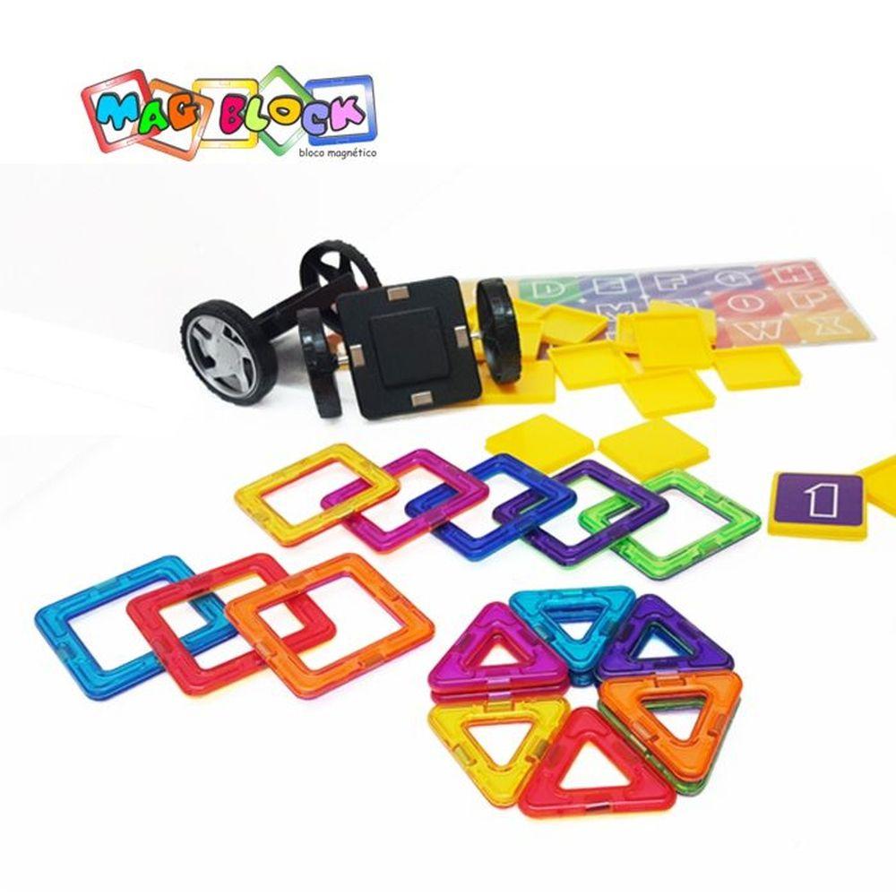 Blocos Magnéticos 35 peças Mag Block peças