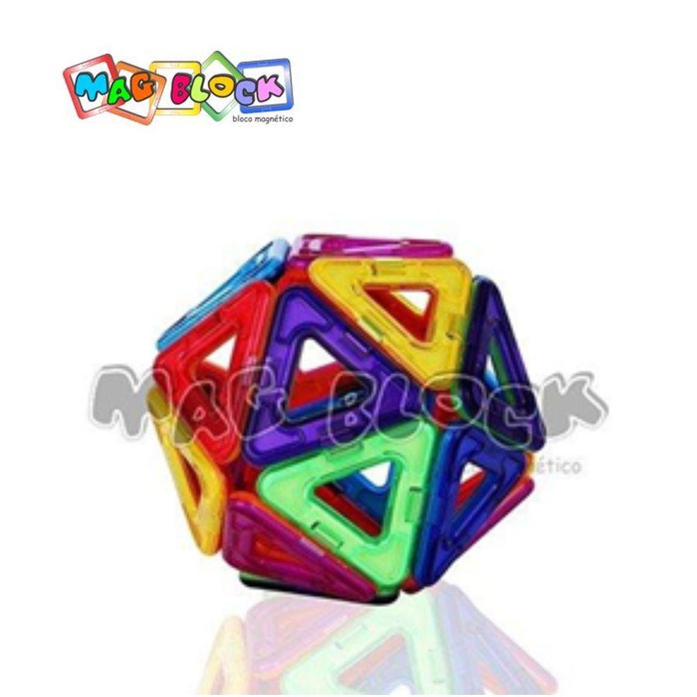 Blocos Magnéticos 35 peças Mag Block modelo 3