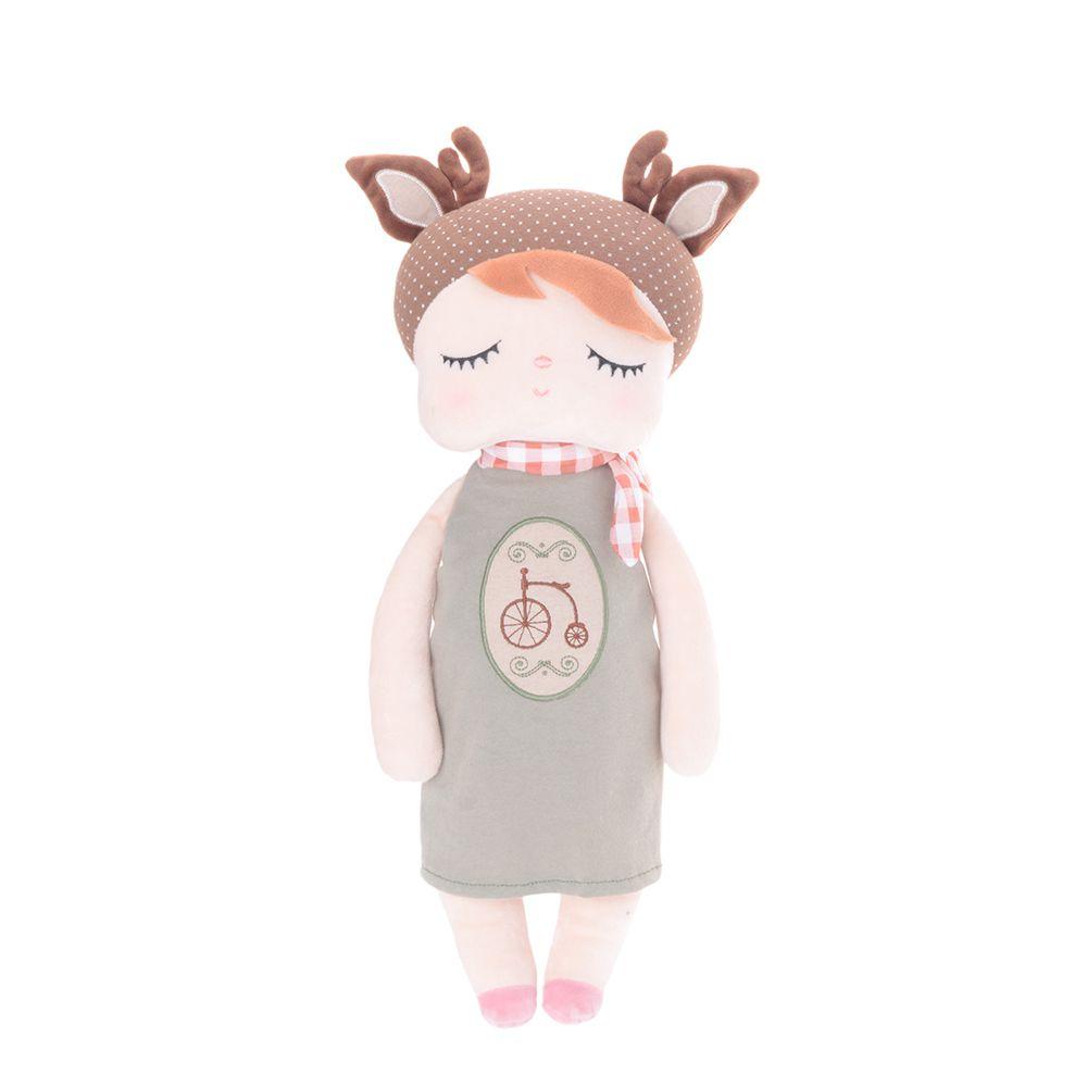 Boneca Metoo Angela Doceira Retro Deer Marrom de frente