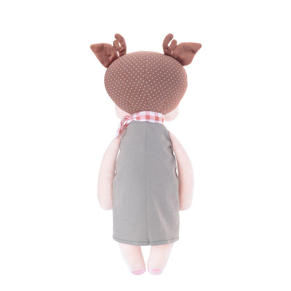 Boneca Metoo Angela Doceira Retro Deer Marrom de costas