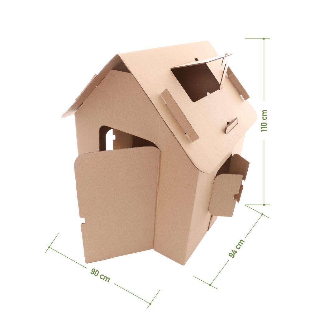 Medidas da casa de papelão