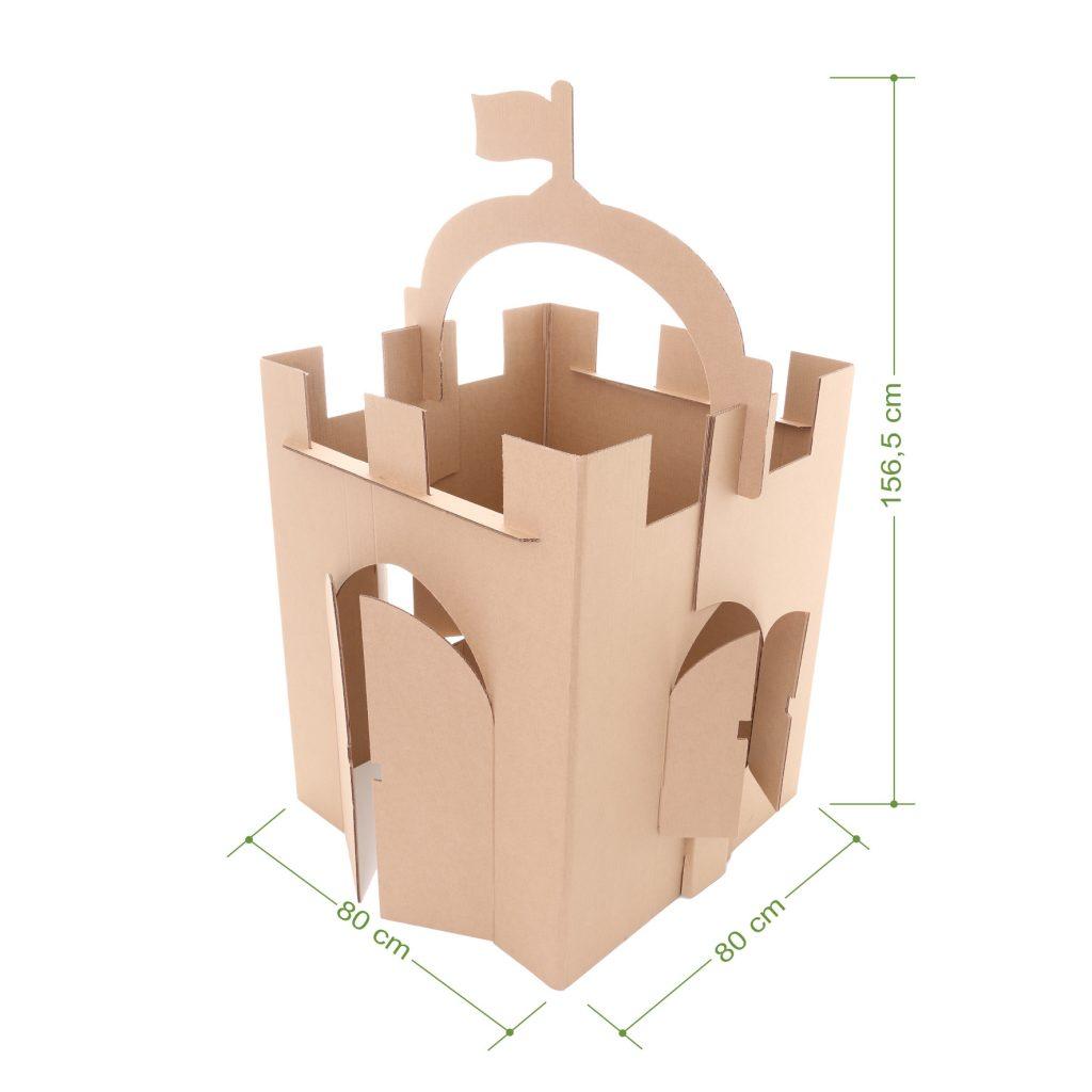 Medidas do castelo de papelão