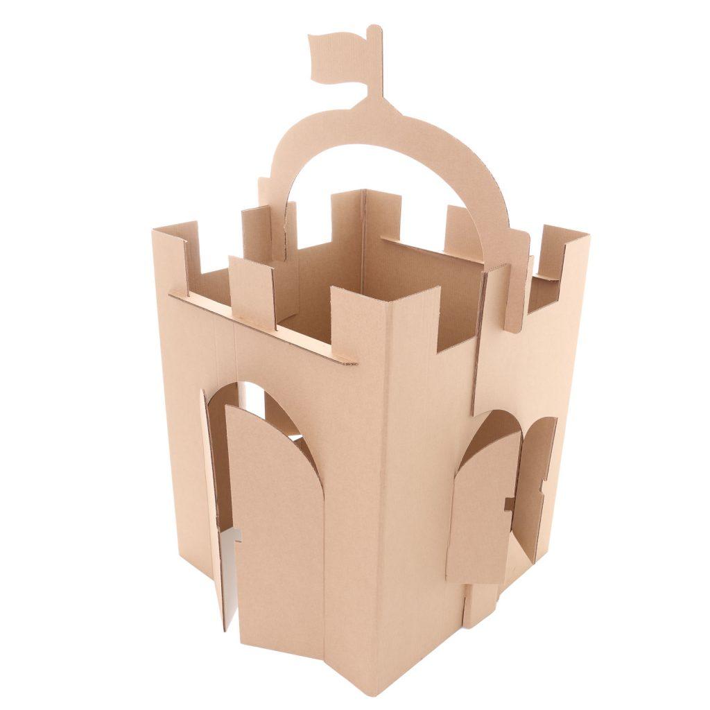 Perspectiva do castelo de papelão
