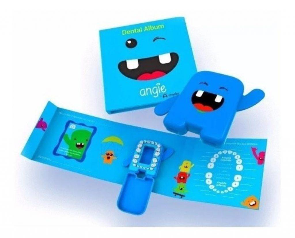 porta-dentes de leite - dental album azul