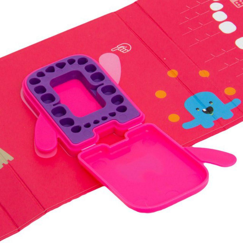 porta-dentes de leite - dental album rosa