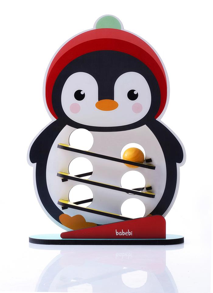 Brinquedo Educativo Rolando Bolinha com o Pinguim