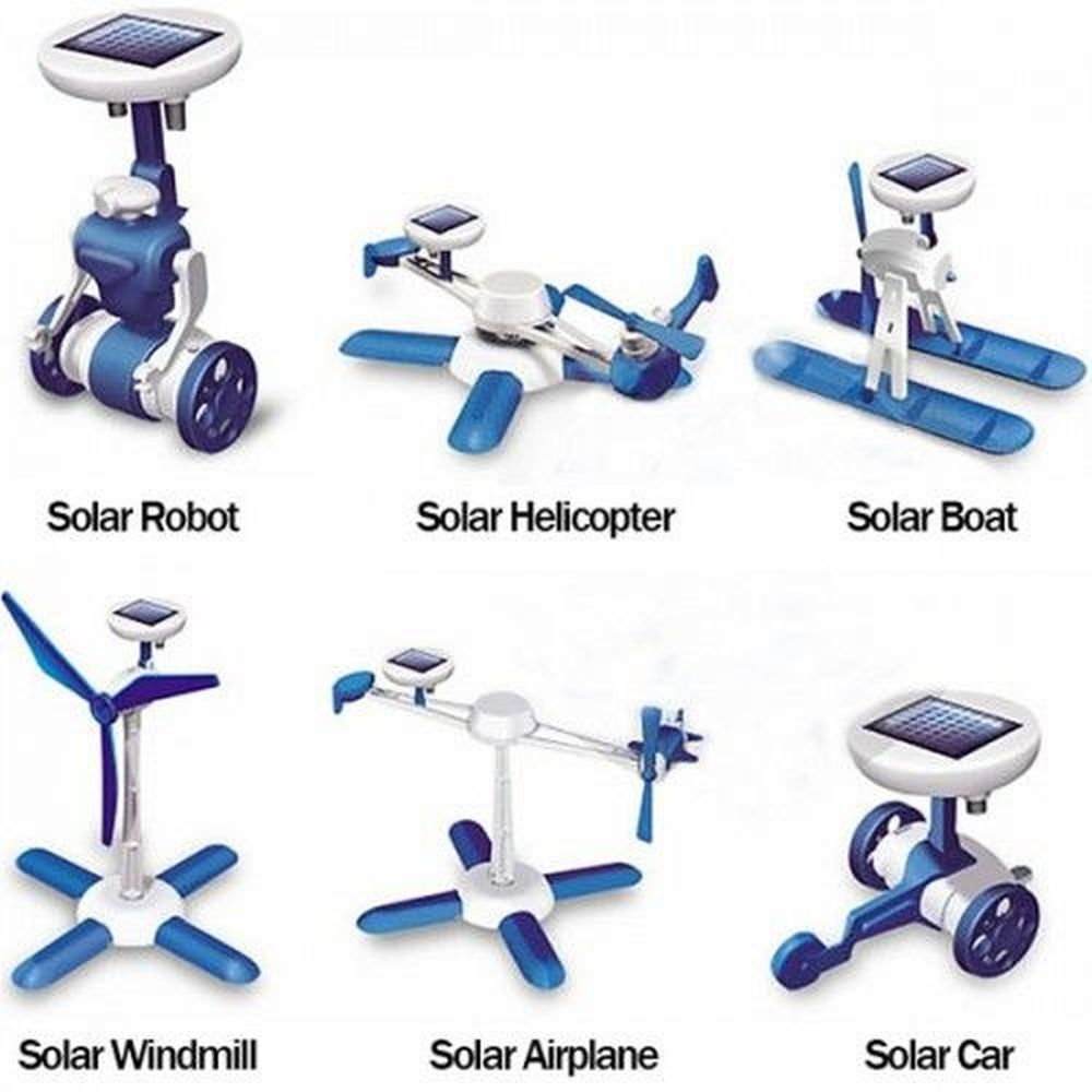 Modelos do Kit Robótica Solar 6 em 1