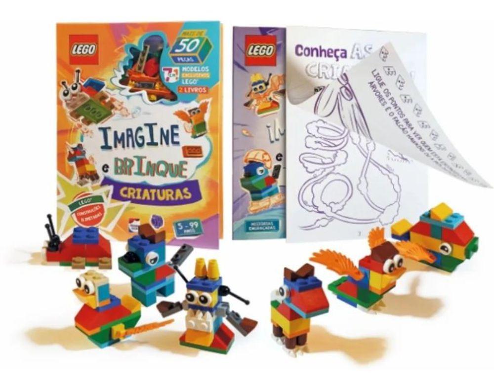 Livro Lego Iconic. Imagine e Brinque Criaturas + peças