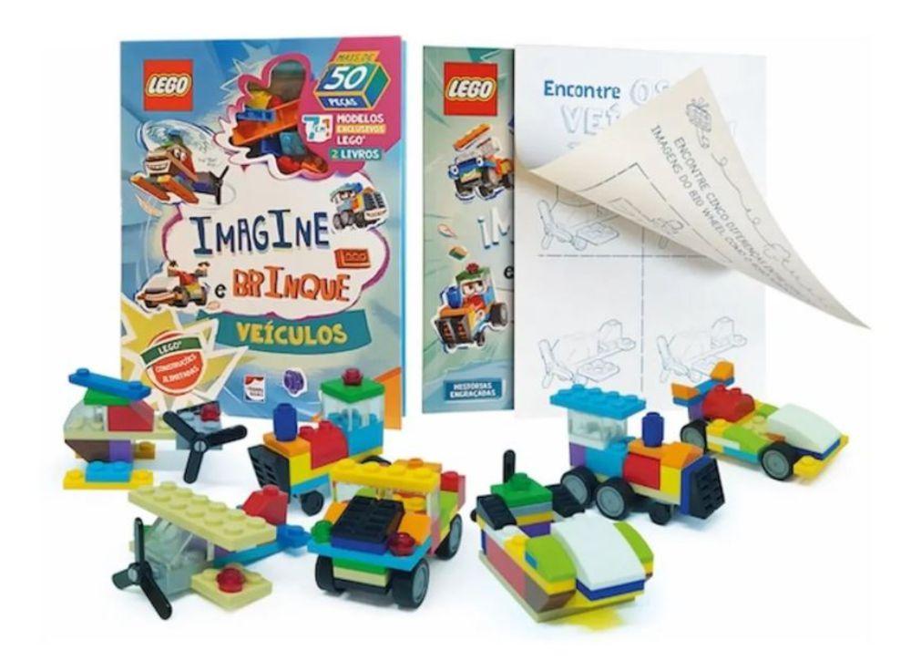 Livro Lego Iconic. Imagine e Brinque Veículos + peças