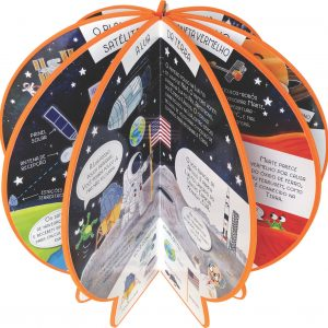 Livro Globo Explore o Sistema Solar Aberto como globo