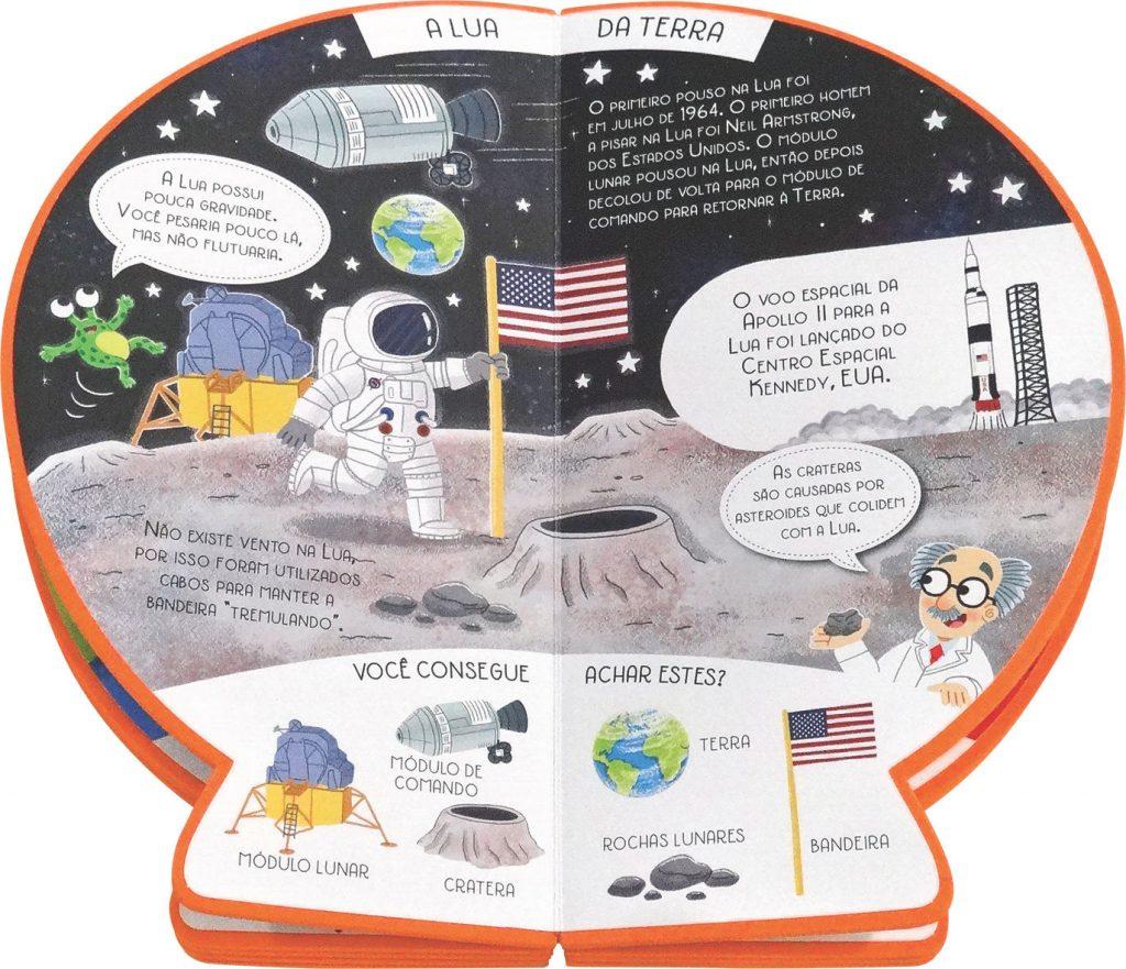 Livro Globo Explore o Sistema Solar aberto comocom página
