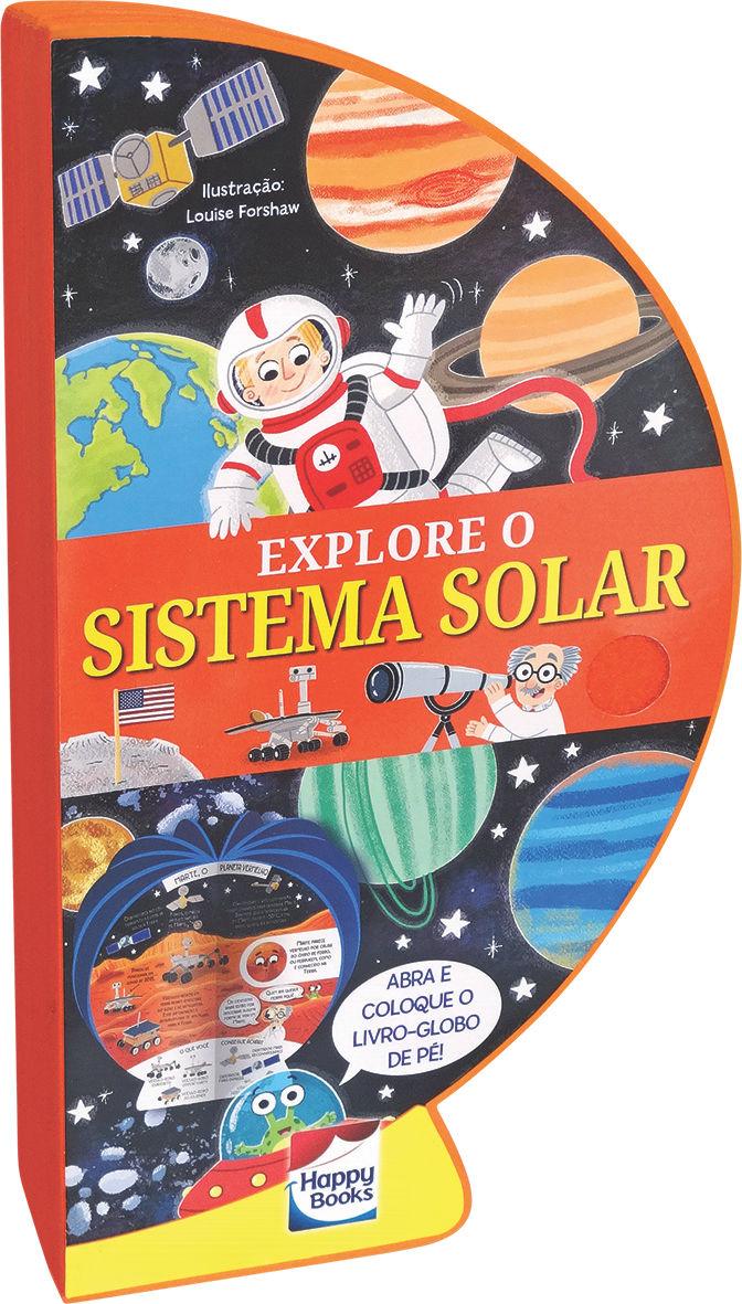 Livro Globo Explore o Sistema Solar Aberto como globo fechado