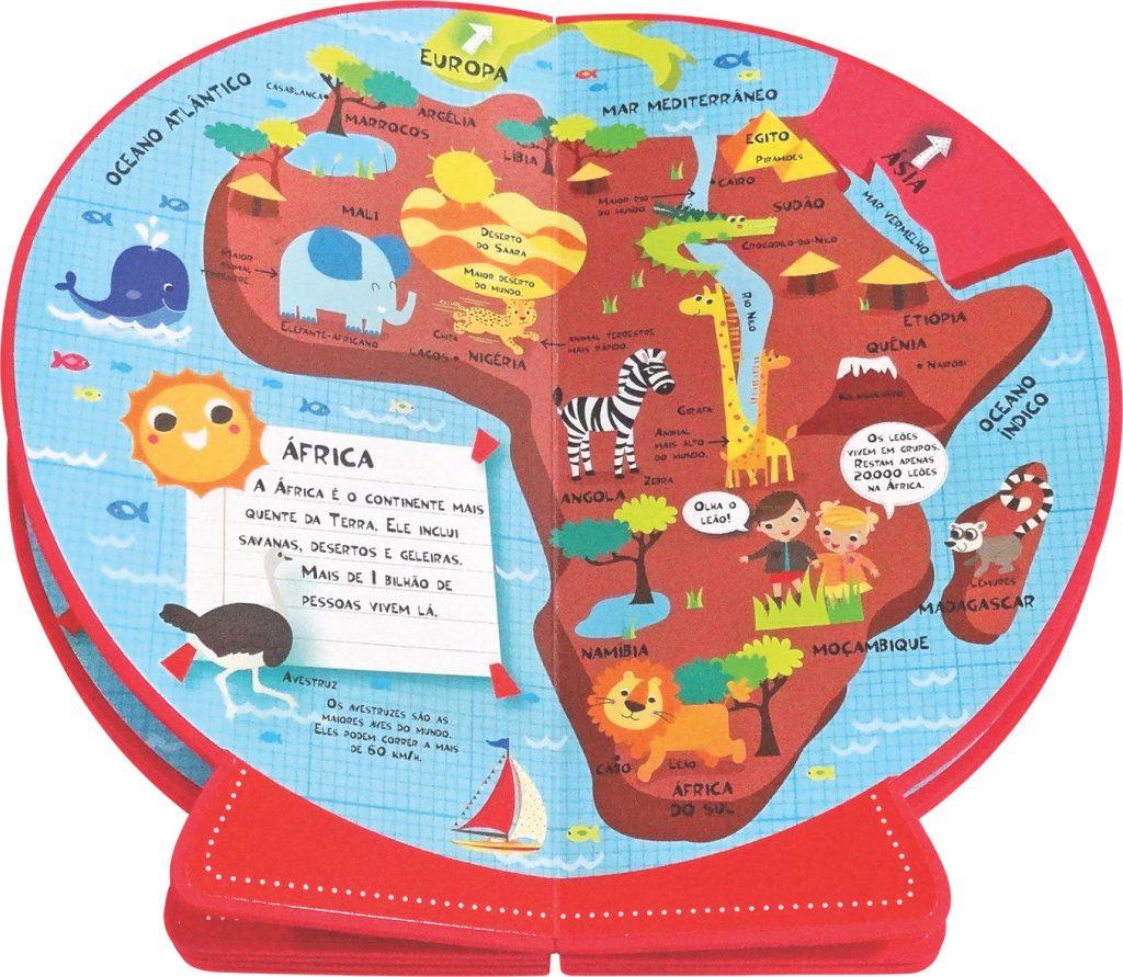 Livro Globo Meu primeiro Atlas em 3D Aberto como página