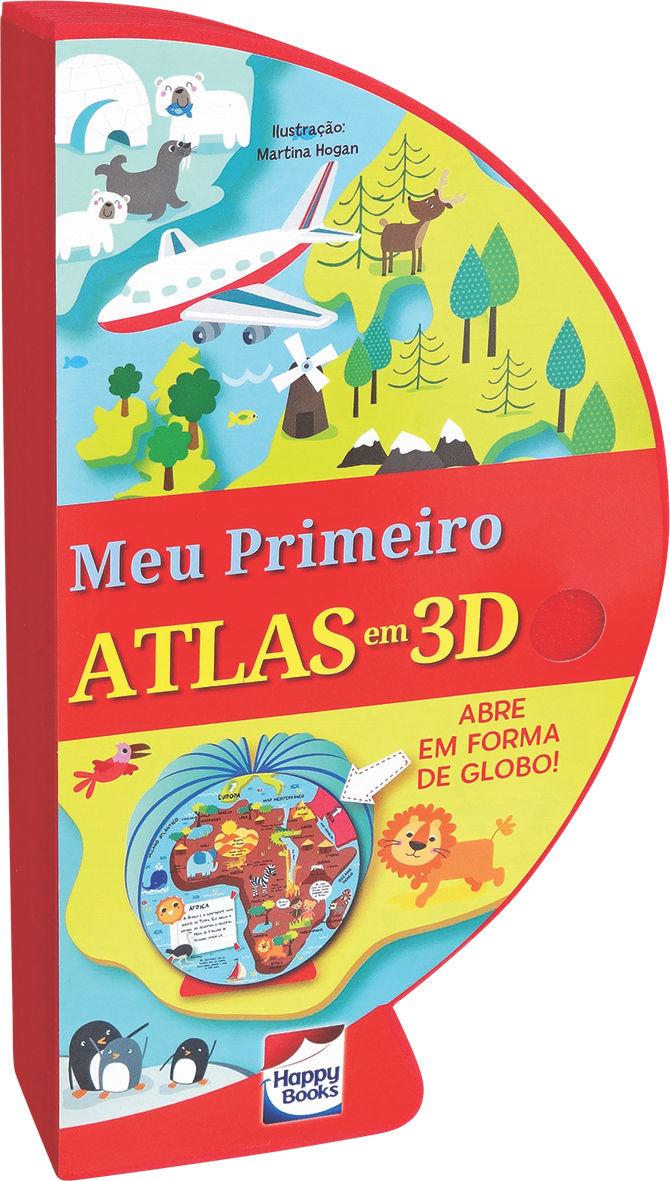 Livro Globo Meu primeiro Atlas em 3D Fechado
