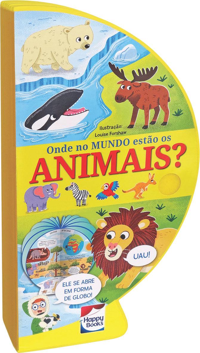 Livro Globo Onde no Mundo estão os Animais Fechado