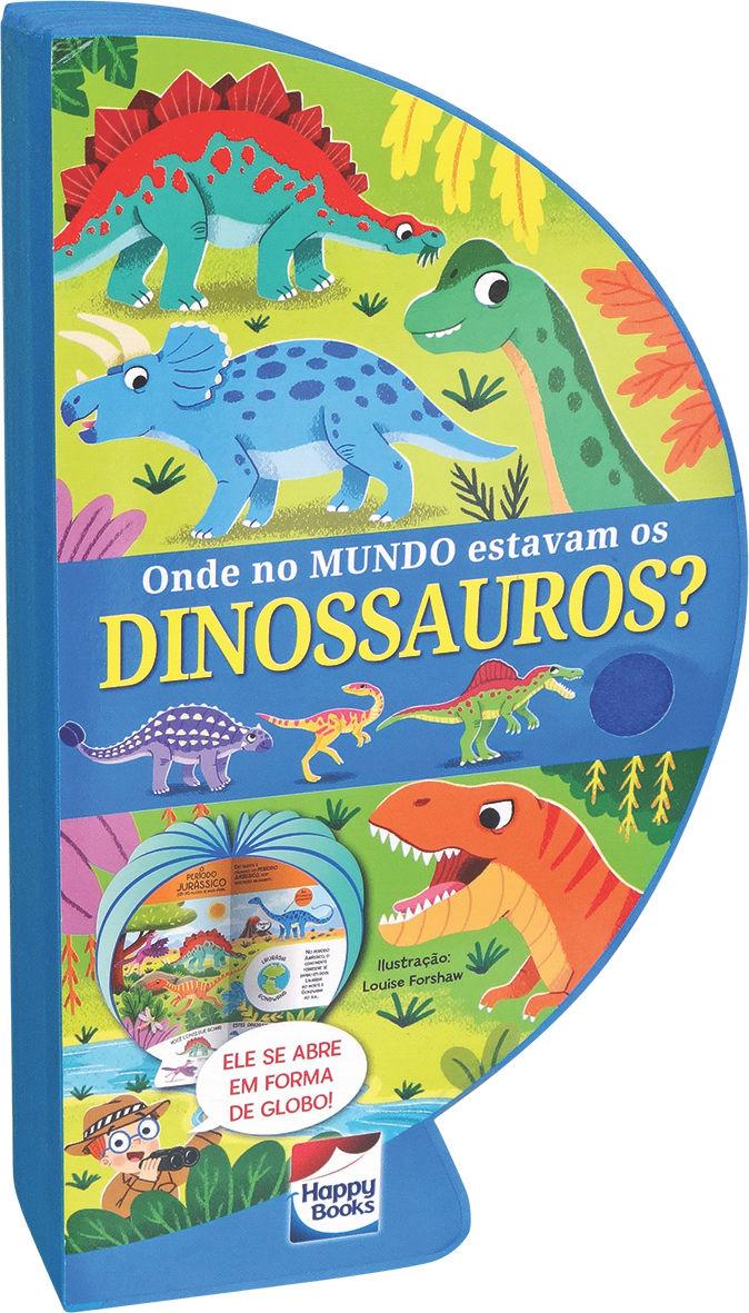 Livro Globo Onde no Mundo estavam os Dinossauros fechado