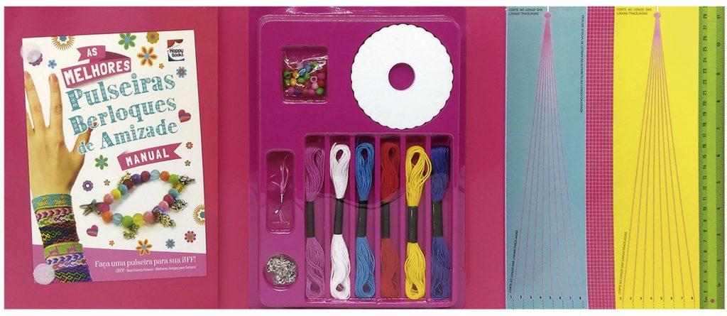 Conteúdo do Livro & Kit As melhores pulseiras berloques de amizade