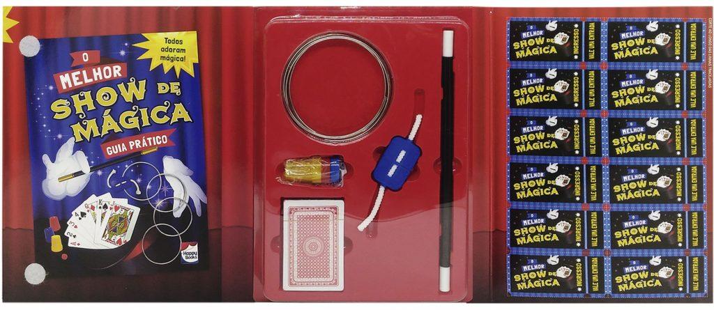 Conteúdo do Livro & Kit O melhor show de mágica