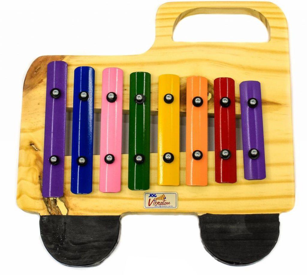 Metalofone colorido caminhão