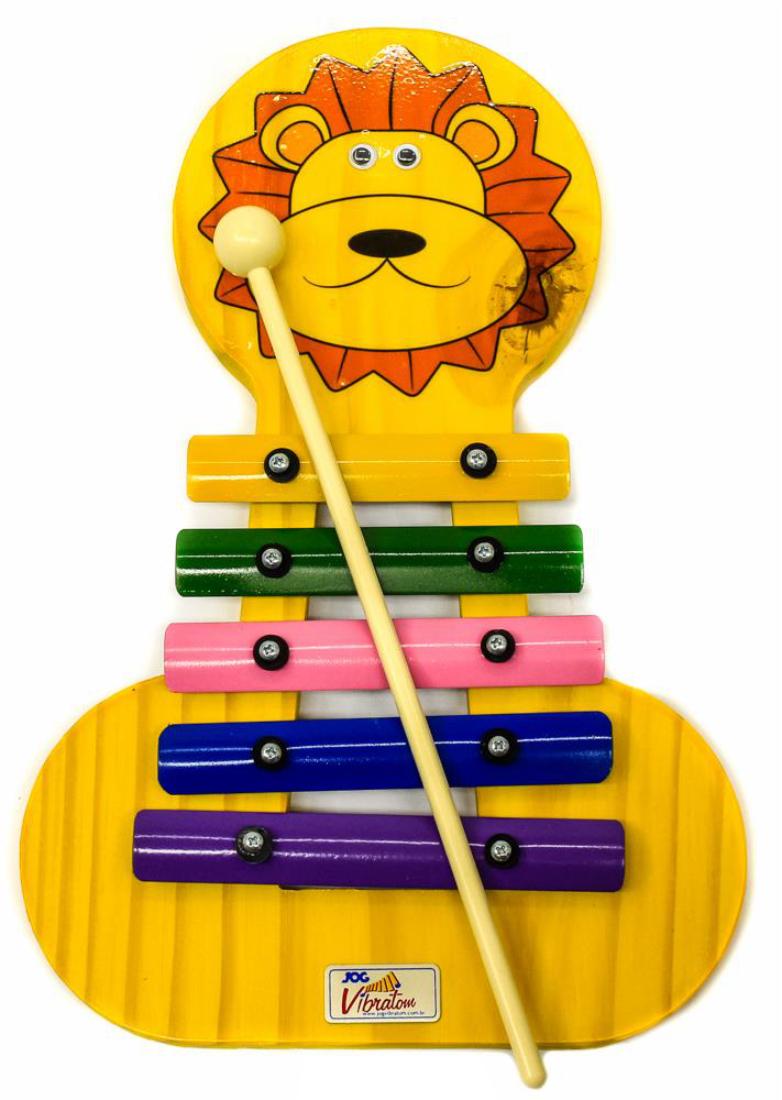 Metalofone colorido leão