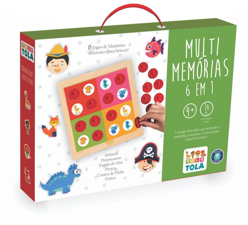 embalagem do multi memória 6 em 1