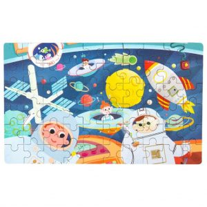 Quebra-cabeças espacial 60 peças montado