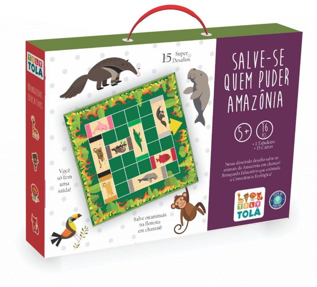 embalagem do jogo salve-se quem puder amazônia