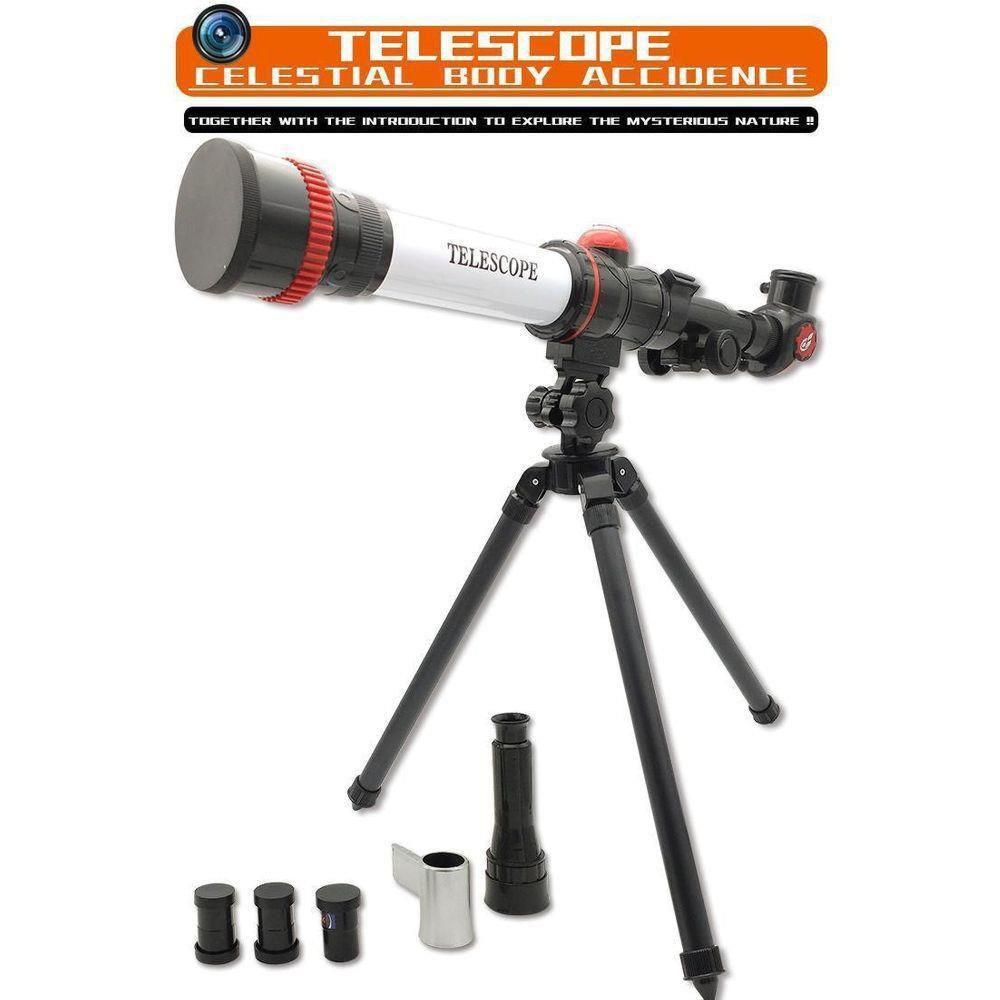 Telescópio infantil e peças