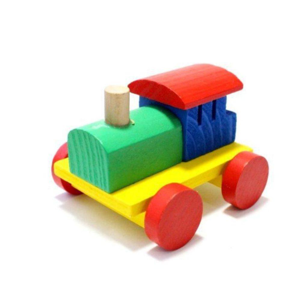 frente do Trem com blocos educativos 11 peças
