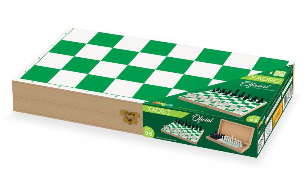 Embalagem do jogo de xadrez oficial