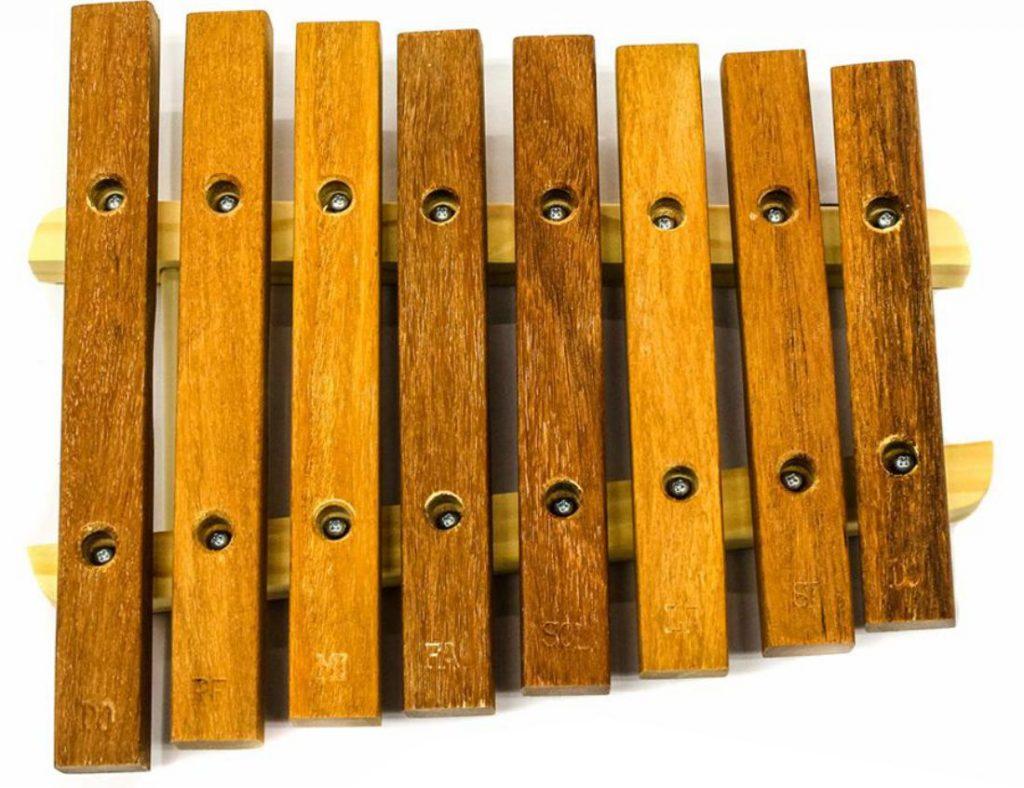 Xilofone 8 teclas em madeira